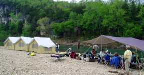 Buffalo River camp-Cotter Trout Dock-Arkansas