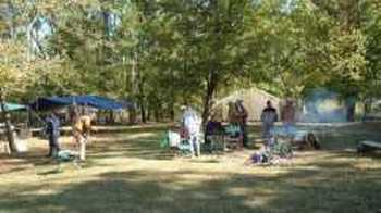 Group on main campground-Cotter Trout Dock-White River-Arkansas