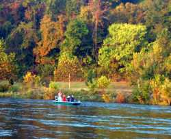 Fall foliage-White River-Arkansas-CotterTrout Dock