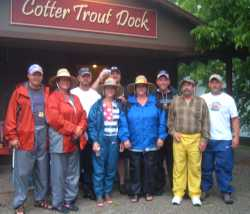 guided                               fishing tripgroup-Cotter Trout                               Dock-Arkansas