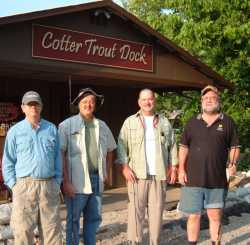 Fishing guests at Cotter                                 Trout Dock-Arkansas