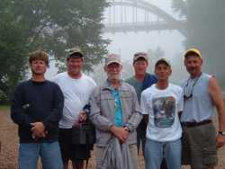 Fishing and camping group at                             Cotter Trout Dock-Arkansas