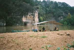 camp fly on Buffalo River -