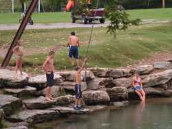 Big Spring swimming hole at Cotter Trout